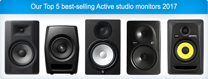 Our Top 5 best-selling Active studio monitors 2017