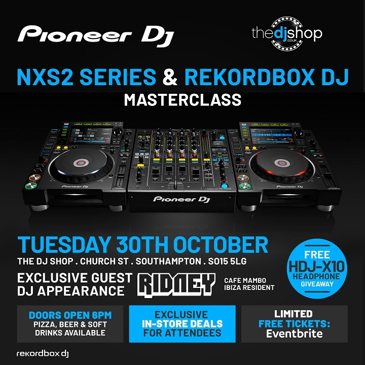 Pioneer DJ NXS2 Series and Rekordbox DJ Masterclass