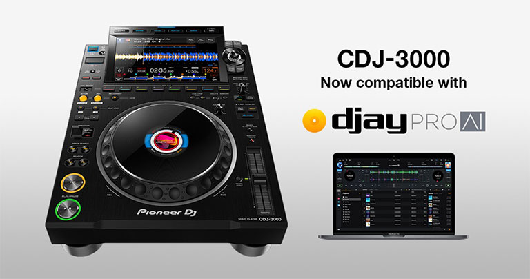 CDJ-3000 now supports djay PRO AI for Mac
