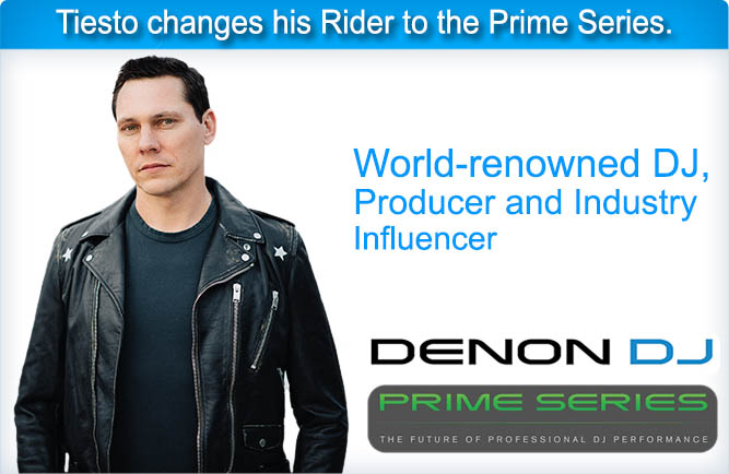 Tiesto changes his Rider to the Prime Series.