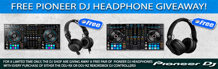 Free Pioneer DJ Headphone Giveaway with every DDJ-RX or DDJ-RZ Purchase!