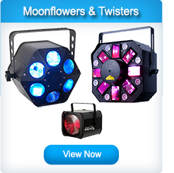 LED Moonflowers and Twisters