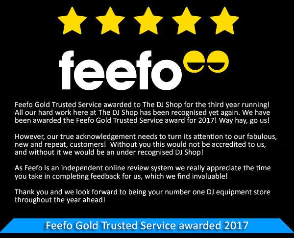 Feefo Gold Trusted Service awarded to The DJ Shop