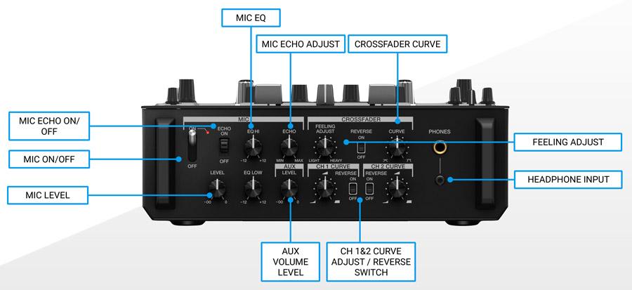Pioneer DJM-S11 Front Features