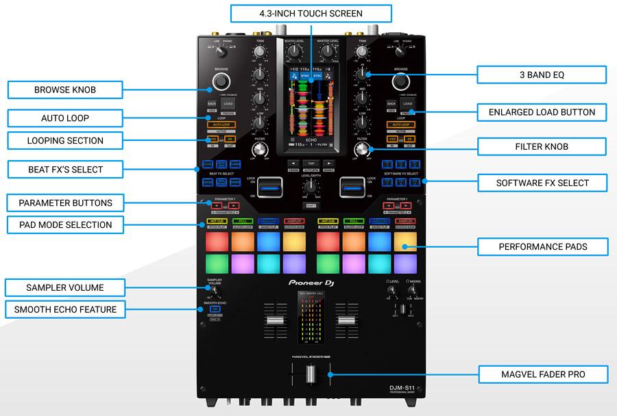 Pioneer DJM-S11 Professional Scratch Mixer
