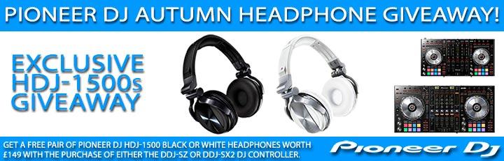 Pioneer DJ Autumn Headphone giveaway