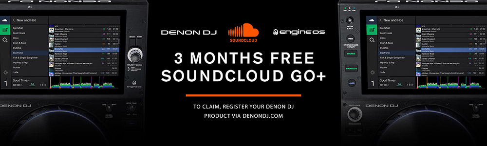 3 Months Free SoundCloud Go+ for Denon DJ Prime Series Users