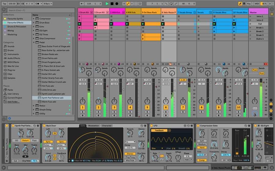 Software de producción de música en vivo y DJ de Ableton
