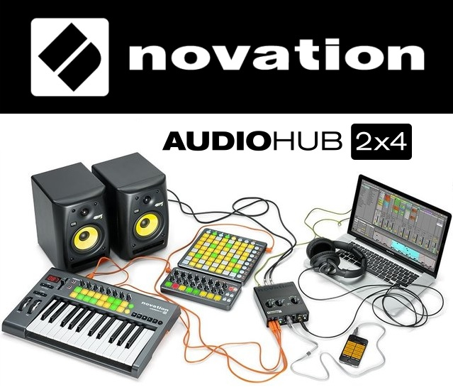 Audiohub 2x4 electronic music production hub