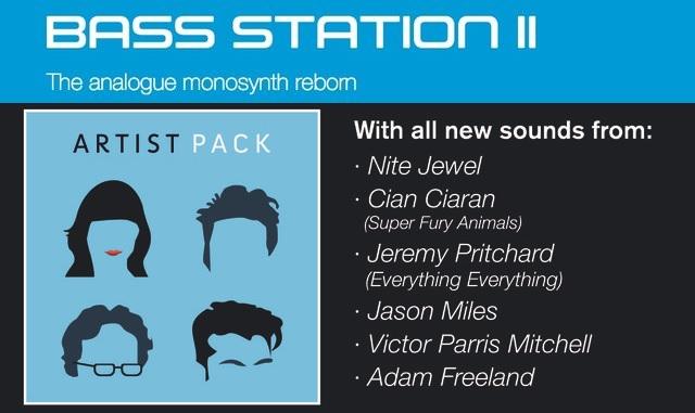 Novation Bass Station II Free Artist Pack