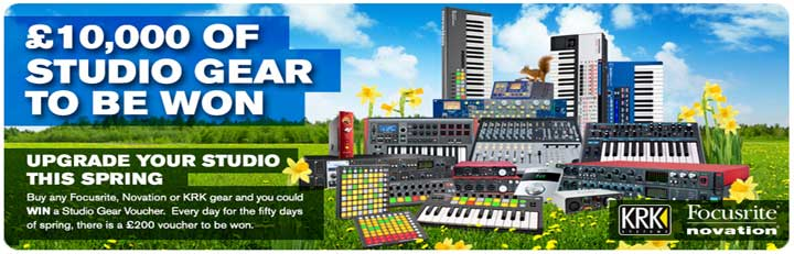 Focusrite, Novation and KRK Promotion