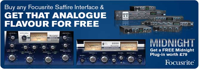 Focusrite Saffire Celebration Campaign