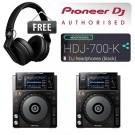Pioneer XDJ-1000 Package with FREE HDJ-700 DJ Headphones